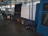 Стеклопакетная линия Bystronic 1600 X 4000 с газовым тандемным прессом и роботом герметизации.