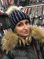 Модная женская шапочка украшенная стразами