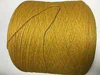 Меринос 70% бэби альпака 30%, желто-горчичный цвет , размер 650 метров в 100 граммах.