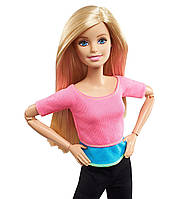 Mattel Барби Йога Блондинка из серии Безграничные движения Barbie Made to Move Doll Pink Top