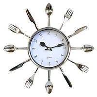 """Часы кухонные настенные """"Ножи, вилки, ложки"""" 25х25см"""