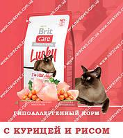 Сухой корм Brit Care Lucky гипоаллергенный с курицей и рисом на развес