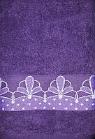 ТМ TAG Полотенце махровое  Цветок (фиолетовый)