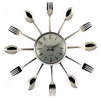 """Часы кухонные настенные """"Ножи, вилки, ложки"""" 37х37см"""