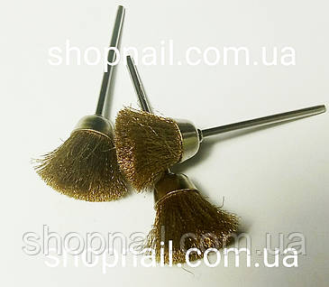 Щетка латунная для очистки фрез, механическая, фото 2