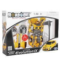 """Трансформер   52080 """"MITSUBISHI LANCER EVOLUTION IX"""" RoadBot 1:32"""
