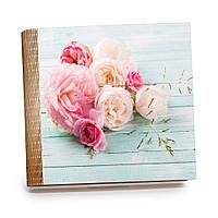 """Шкатулка-книга на магните с 9 отделениями XL """"Розовые и кремовые розы"""""""
