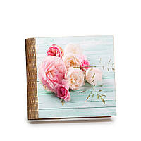 """Шкатулка-книга на магните с 9 отделениями """"Розовые и кремовые розы"""""""