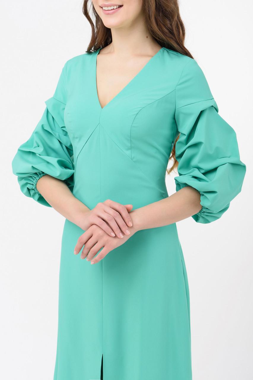 3fb238f21e7 Вечернее платье в пол с объемными рукавами