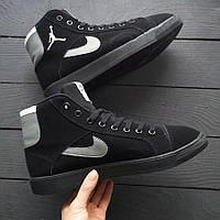 Мужские кроссовки Джордан черные/серые