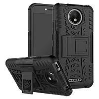Чехол Motorola Moto C Plus / XT1723 противоударный бампер черный