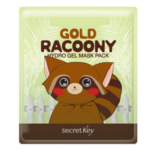 Гидрогелевая маска с коллоидным золотом Secret Key Gold Racoony Hydro Gel Mask Pack - (30 г)