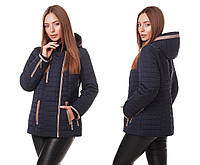 Женская демисезонная куртка косуха весна-осень 2018 синего цвета