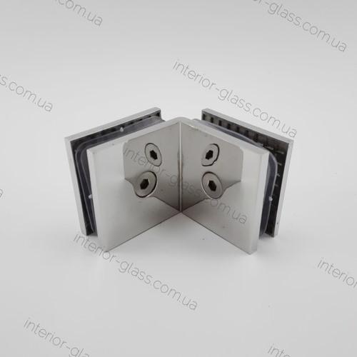 Соединитель для стекла 90° HDL-725 PSS литой, полированная нержавеющая сталь