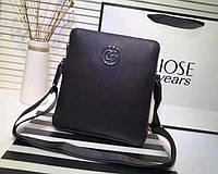 Мужская кожаная сумка Gucci 1282 leather SR-773