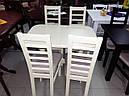 Стол Аврора обеденный раскладной деревянный 101(+35)*69 ваниль, фото 3