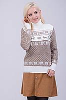 Стилный женский свитер с орнаментом