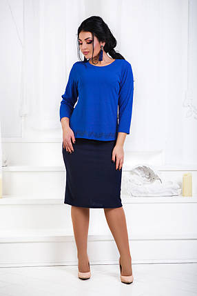 ДР1561 Костюм элегантный кофта+юбка размеры 48-56, фото 2
