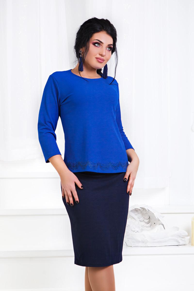 ДР1561 Костюм элегантный кофта+юбка размеры 48-56