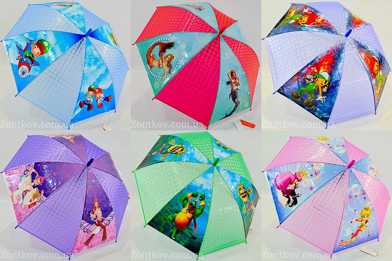 """Детский зонтик трость оптом с красочными рисунками на 4-6 лет от фирмы """"Monsoon""""."""