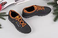 Стильные мужские кроссовки COLUMBIA. Натуральная кожа. Р-р 40-45. Цвет черный
