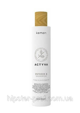 Шампунь-пилинг от перхоти для жирной кожи головы Kemon Actyva Purezza G. Shampoo 250 ml
