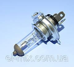 Лампочка автомобільна H4 12V 60/55W прозора Vipow ZAR0165