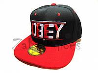 "Кепка реперка ""OBEY"" (Black & Red), фото 1"