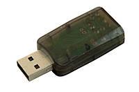 Внешняя USB звуковая карта 5.1 3D Sound