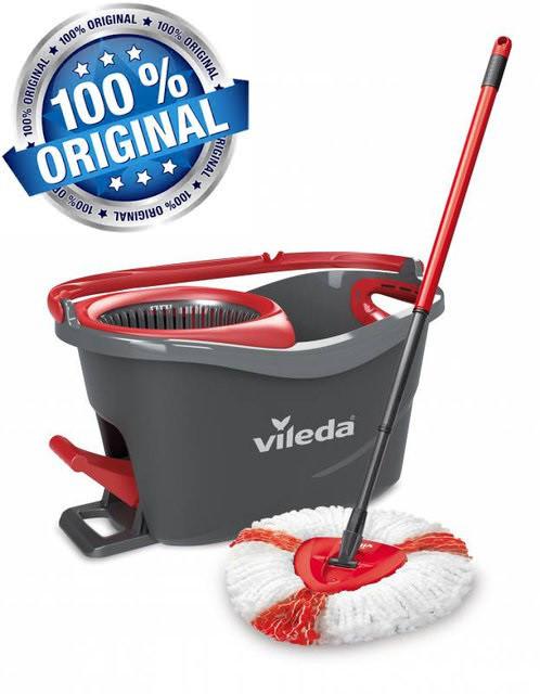 Швабра-вертушка с отжимом VILEDA EasyWring&Clean Turbo (комплект для уборки Изи Вринг Турбо Віледа) Чехия
