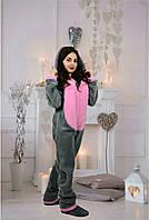 Женская теплая пижама с ушками кигуруми
