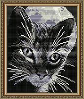 """Алмазная мозаика """"Кот под луной"""""""