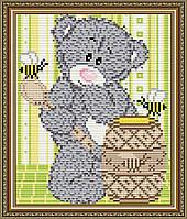 """Алмазная мозаика """"Мишка с медом"""""""