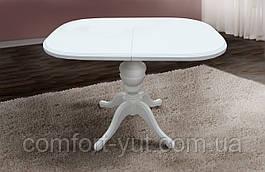 Стол Эмиль обеденный раскладной деревянный 105(+38)*74 белый