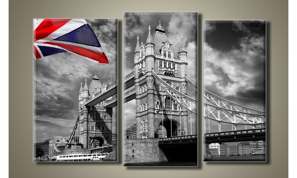 """Модульная картина на холсте """"Тауэрский мост в Лондоне 2"""""""