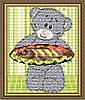 """Алмазна мозаїка """"Ведмедик з рибою"""""""