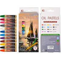 Восковые карандаши 12 цветов OIL PASTELS