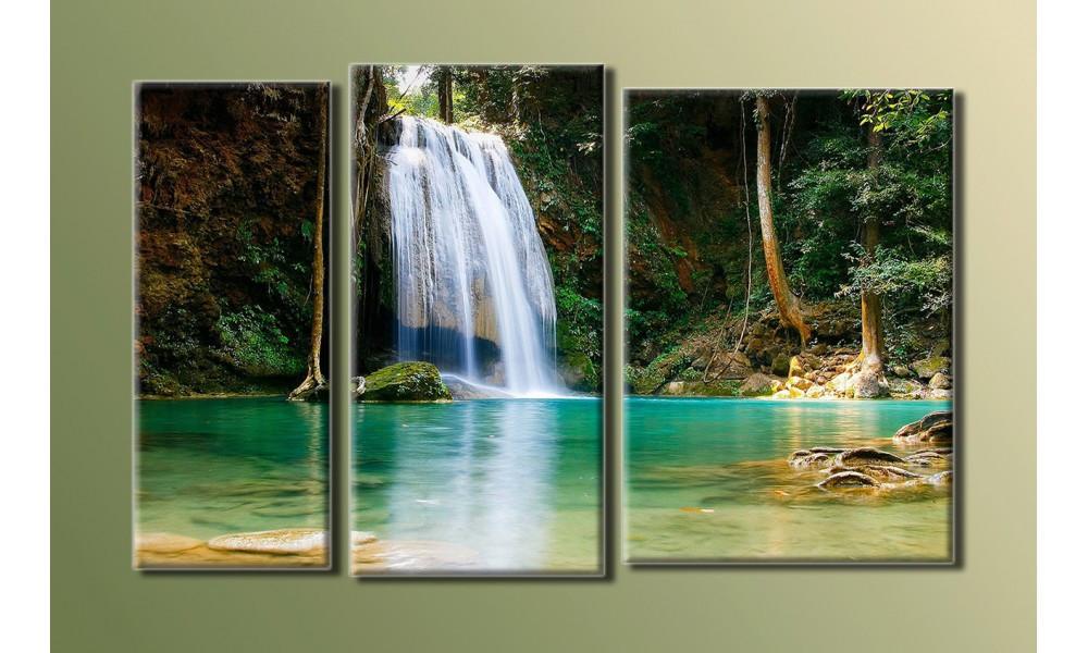 """Модульная картина на холсте """"Водопад 2"""""""
