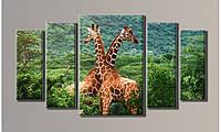 "Модульная картина на холсте ""Жирафы 2"""