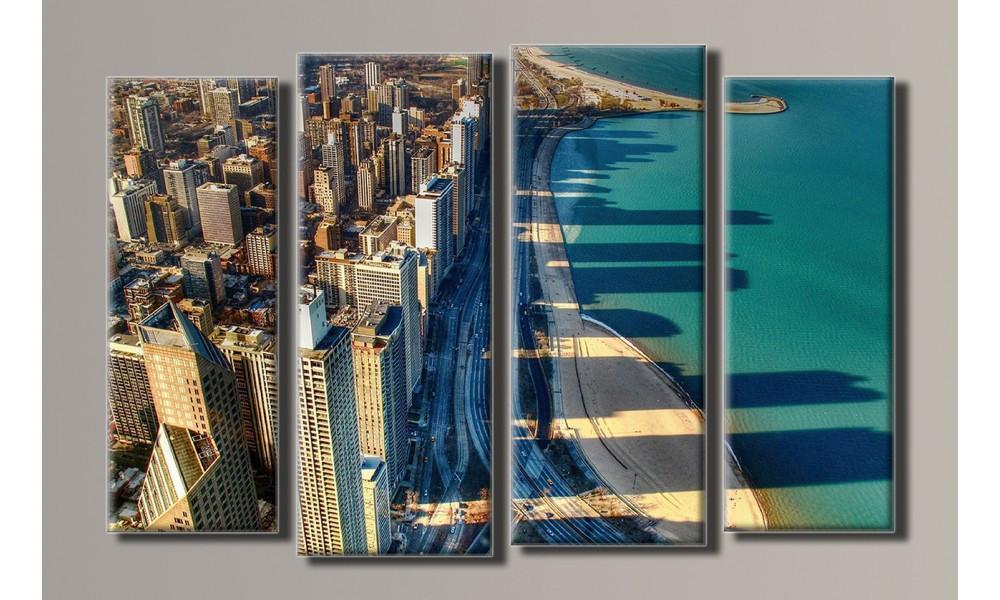 "Модульная картина на холсте ""Чикаго"""