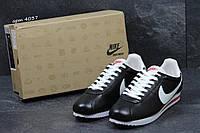 Мужские кроссовки Nike Cortez черныес белым