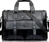 Мужская сумка из натуральной кожи BailiLaoren Черный, фото 1