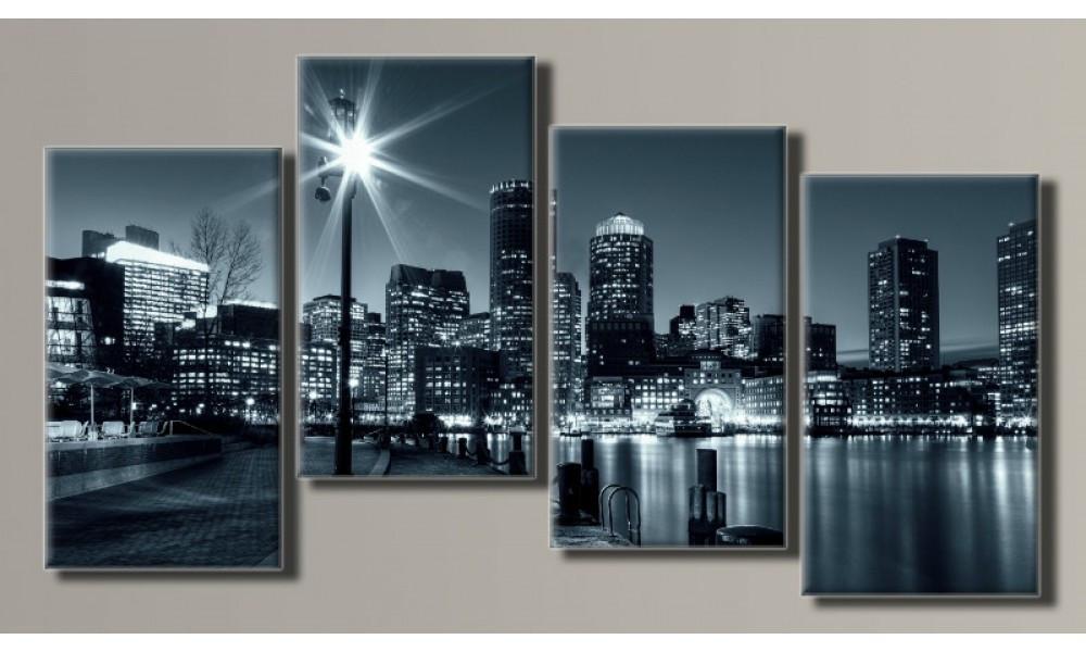 """Модульная картина на холсте """"Boston"""""""