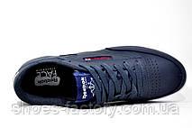 Кожаные мужские кроссовки в стиле Reebok Club C 85 Leather, AR0458 Dark Blue\White, фото 2