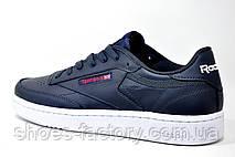 Кожаные мужские кроссовки в стиле Reebok Club C 85 Leather, AR0458 Dark Blue\White, фото 3