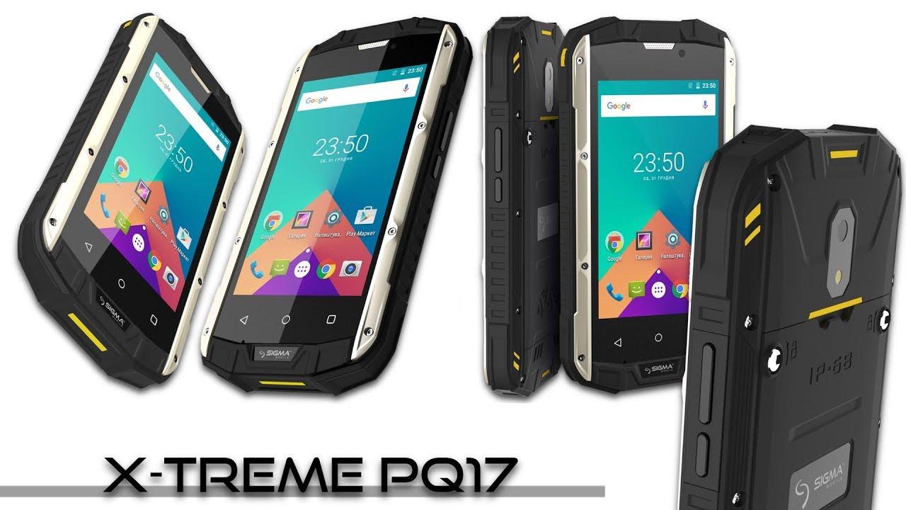 "Смартфон Sigma mobile X-treme PQ17, 1/8Gb, 5/2Мп, 4 ядра, 2sim, экран 4"" IPS, IP68, 2500mAh, GPS, Android 6.1."