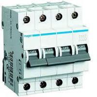 Автоматический выключатель 32 А, 4 полюса, С, MC432A Hager