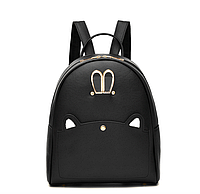 Рюкзак женский кожзам c ушками Charm Черный, фото 1