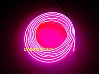 Гибкая неоновая подсветка 3 м шнур неоновый розовый, фото 1