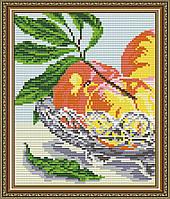 """Алмазна мозаїка """"В кришталі персики.Диптих1"""""""